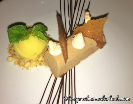 Dessert - Chocolate Parfait with Coconut Sorbet Dessert – Chocolate Parfait with Coconut Sorbet