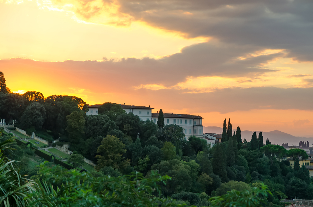 Our first glorious Tuscan sunset! A sign of beauty to come!
