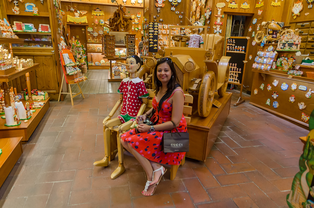 Next to the wooden boy - Pinocchio!
