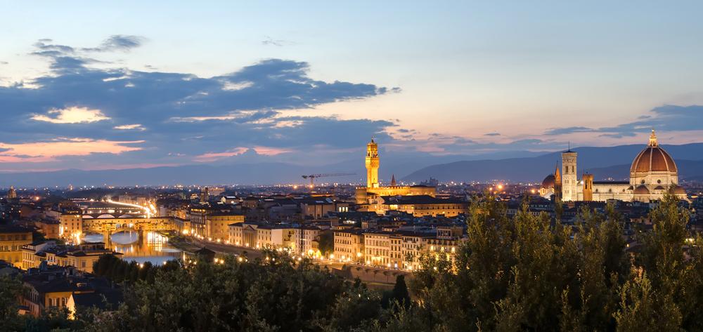 Sunset over the Florentine skyline