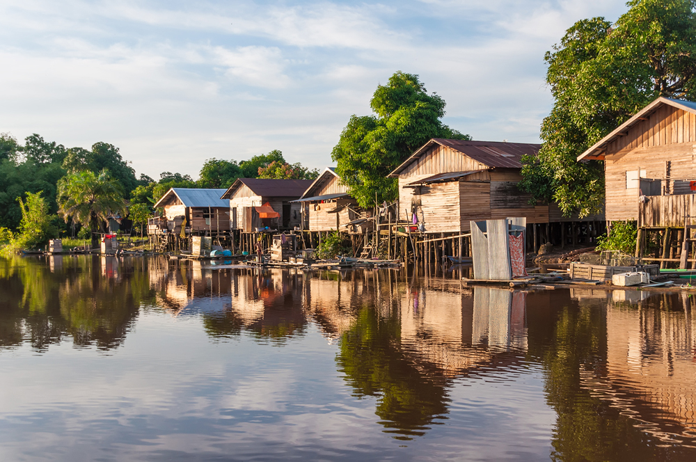 Dayak Village seen from the river