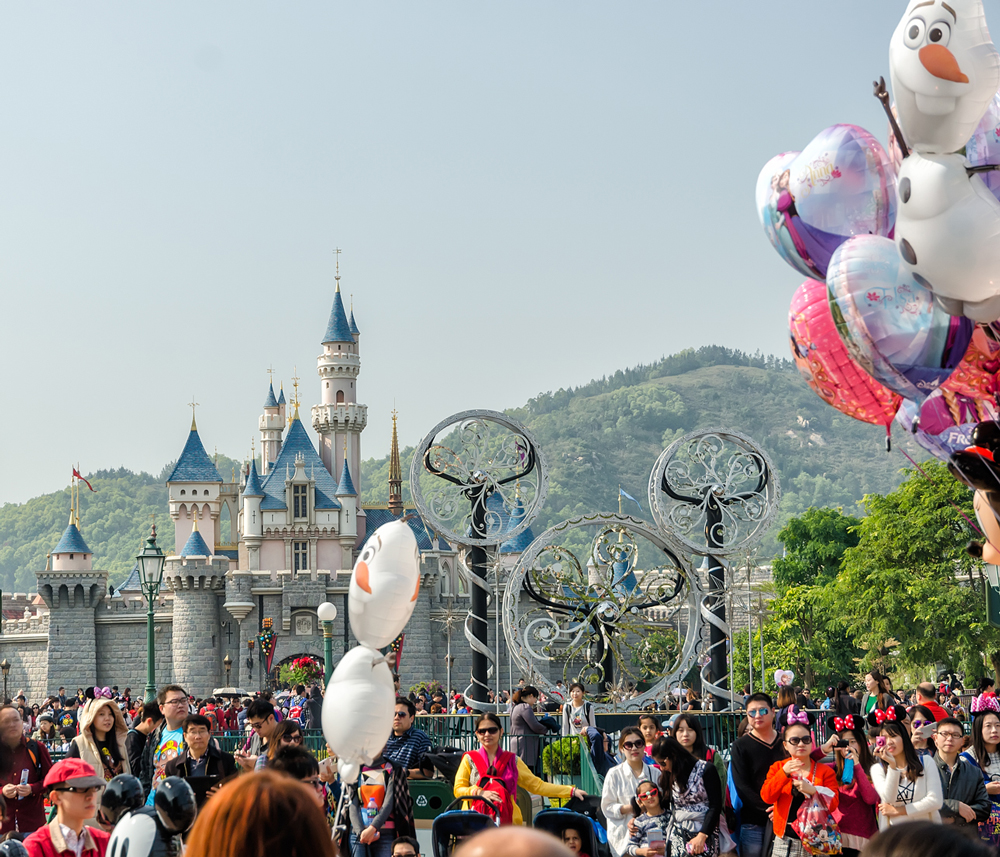 The first glimpse of Cinderellas Castle