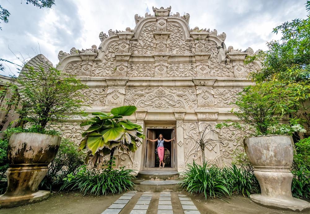 At the doorway of Taman Sari