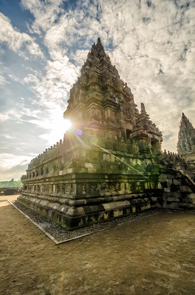 Sunrise at Candi Prambanan