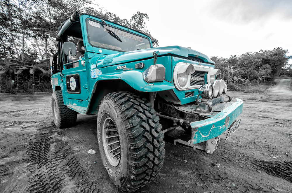 Our jeep to explore Mt. Merapi