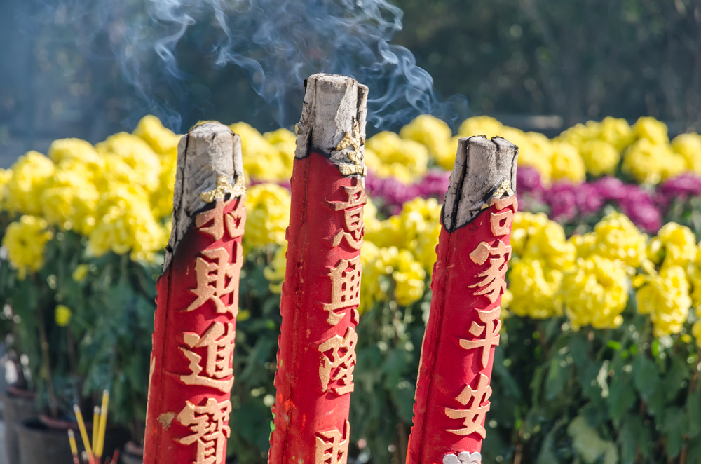Colossal sticks of incense