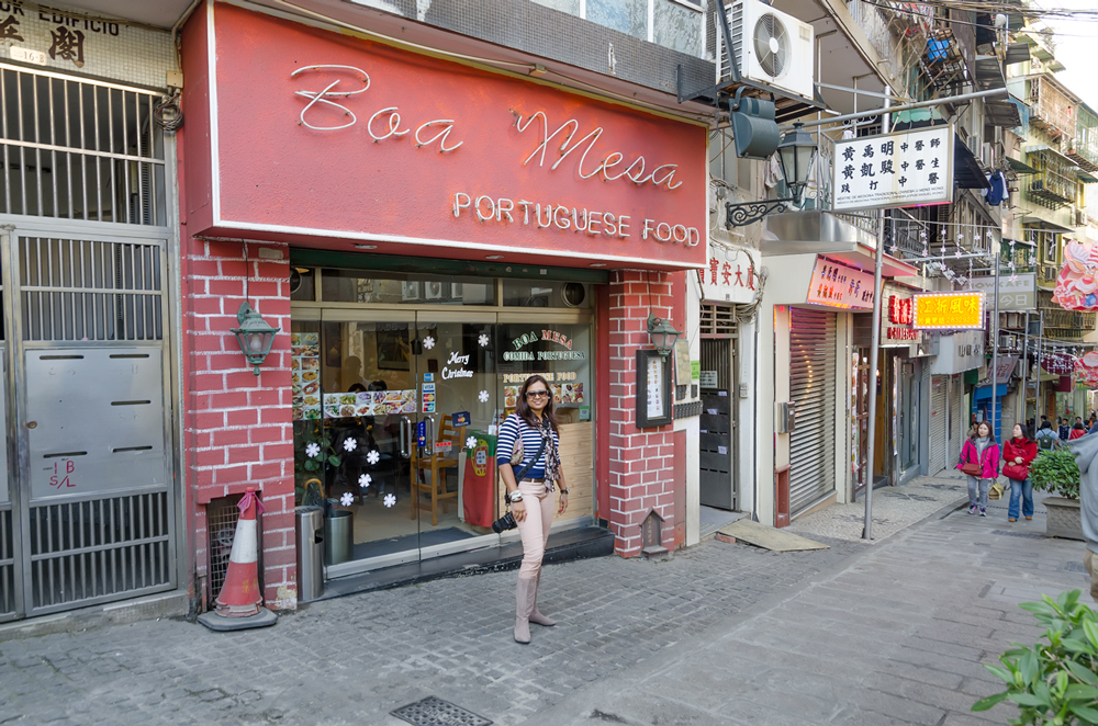 Boa Mesa Portuguese restaurant in Macau