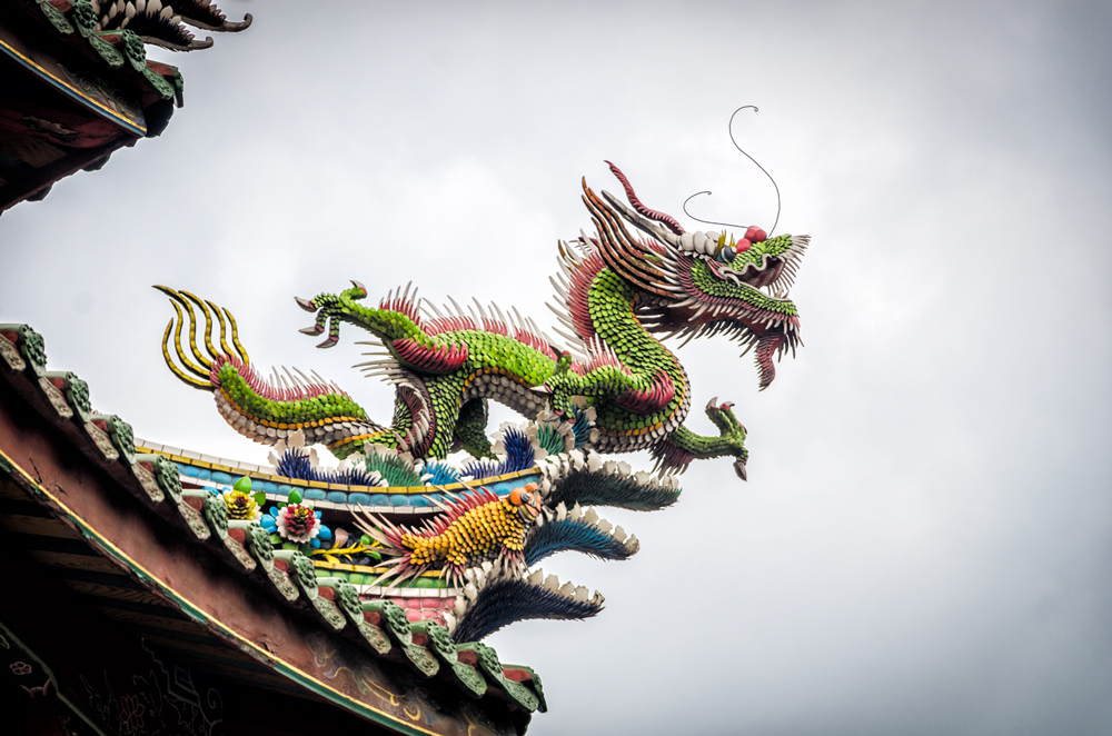 Dragons protecting the temple