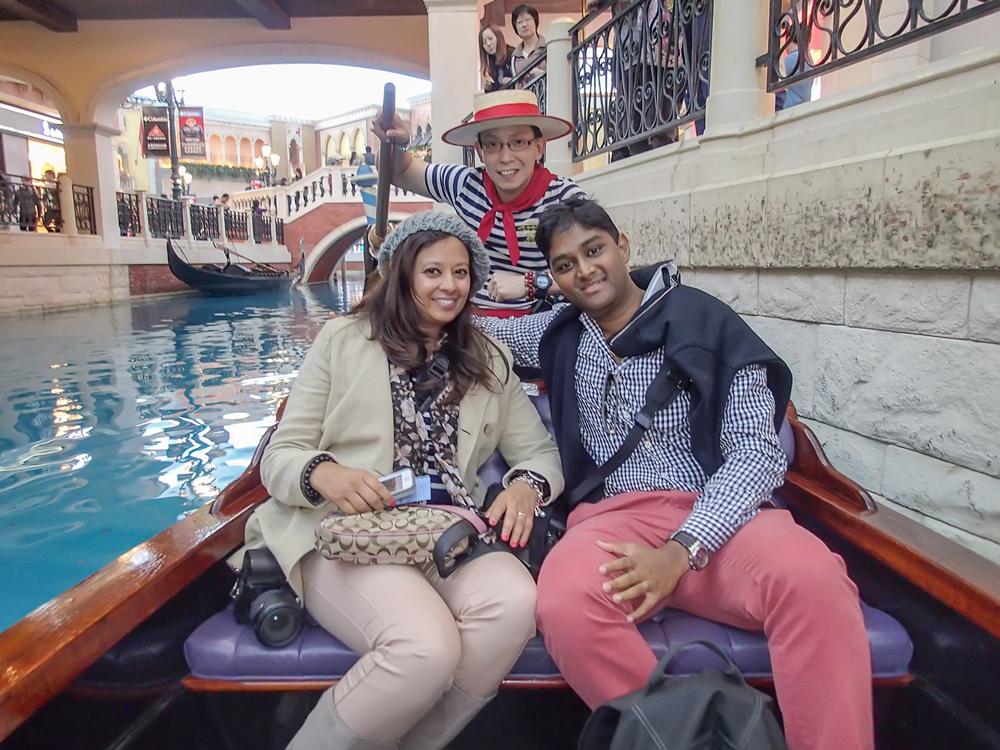 Got to ride a gondola at The Venetian!