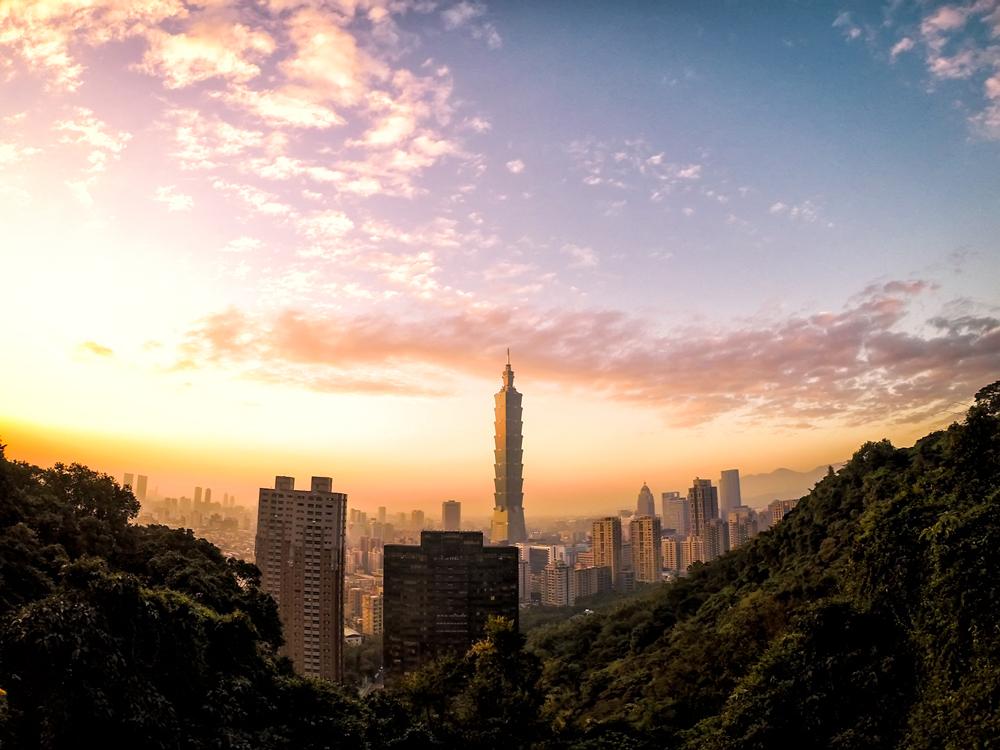 The Taipei Skyline from Elephant Mountain