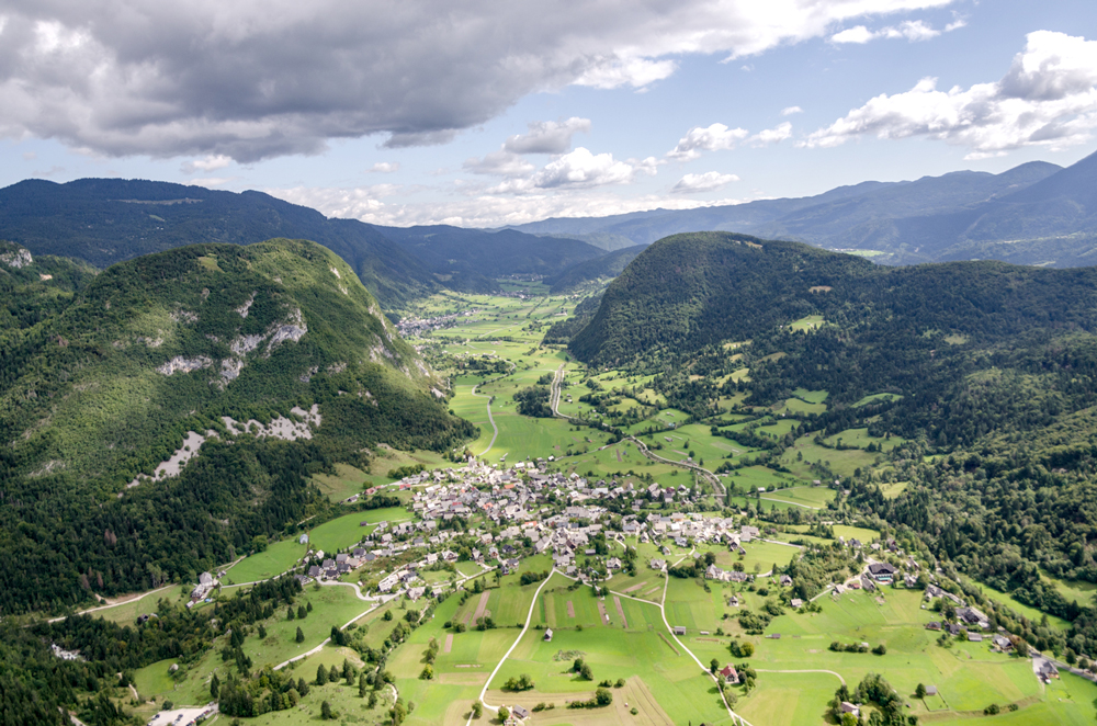 An alpine dream from the air!
