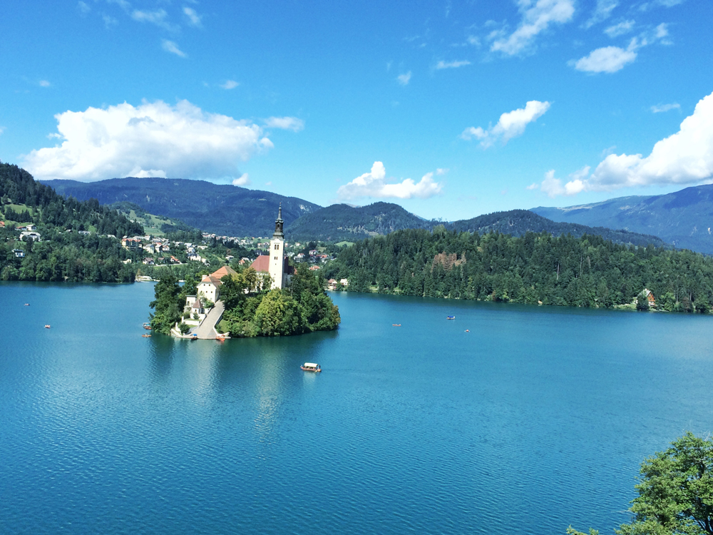View of Bled Island from Vila Bled