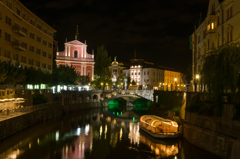 Beautiful Ljubljana by night