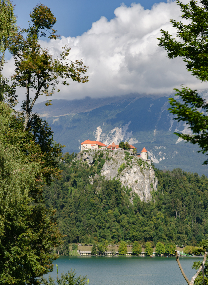 Bled Castle looking like a fairytale