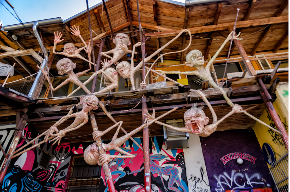 Art sculptures in Metelkova
