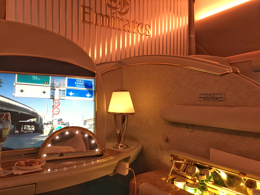 Part of the First Class Suite on the A380