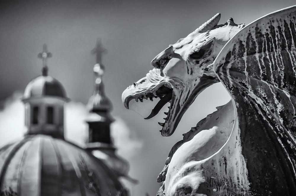 This shot reminds me of the gargoyles at the Notre Dame in Paris