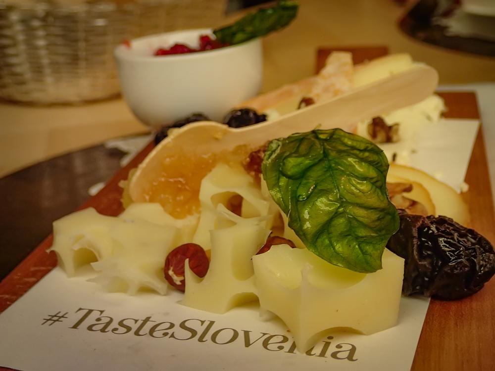 #tasteslovenia- delicious cheese platter