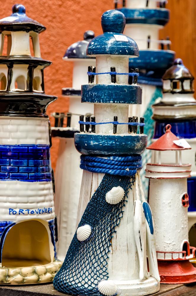 Cute trinkets in Portovenere Shops