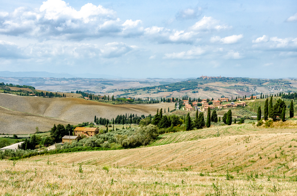 The stunning landscape of the Val D'Orcia