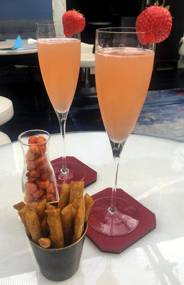 Champagne Milkshakes at the Blue Bar