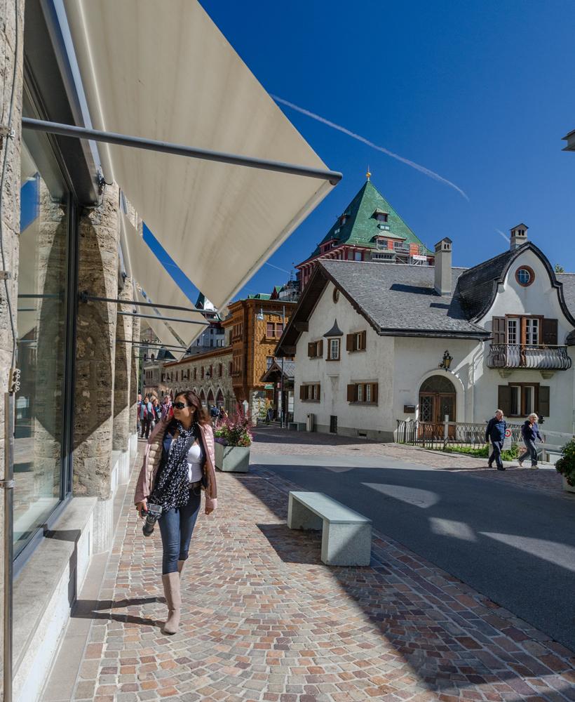 Walking around St. Moritz