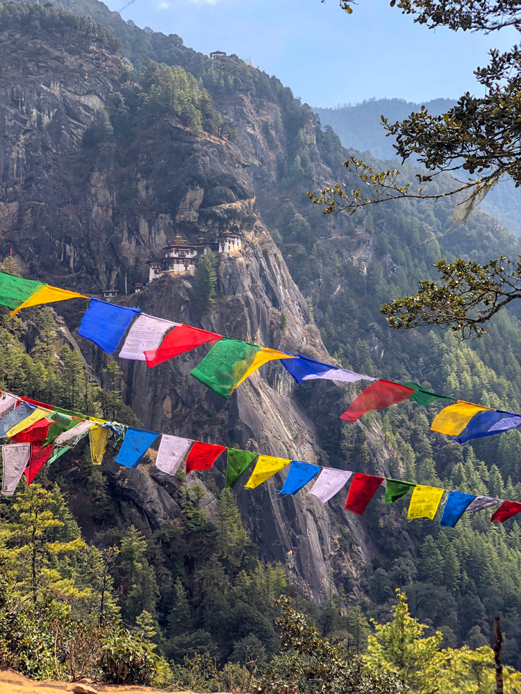 Prayer flags and Tiger's Nest