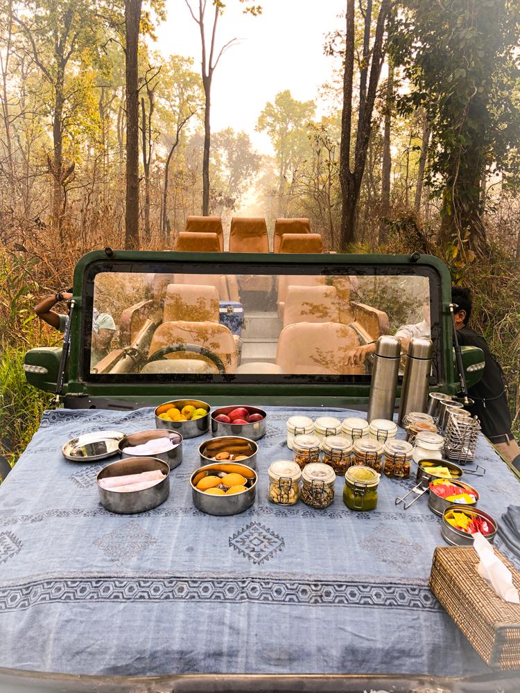 Luxury Taj Breakfast in the middle of Chitwan National Park