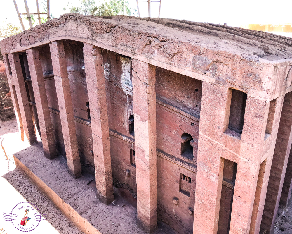 Bet Medhane Alem - the largest church in Lalibela