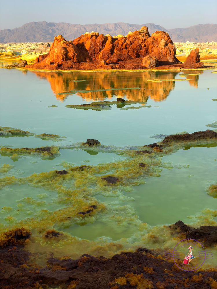 Surreal sulphur lakes of Dallol in the Danakil Depression
