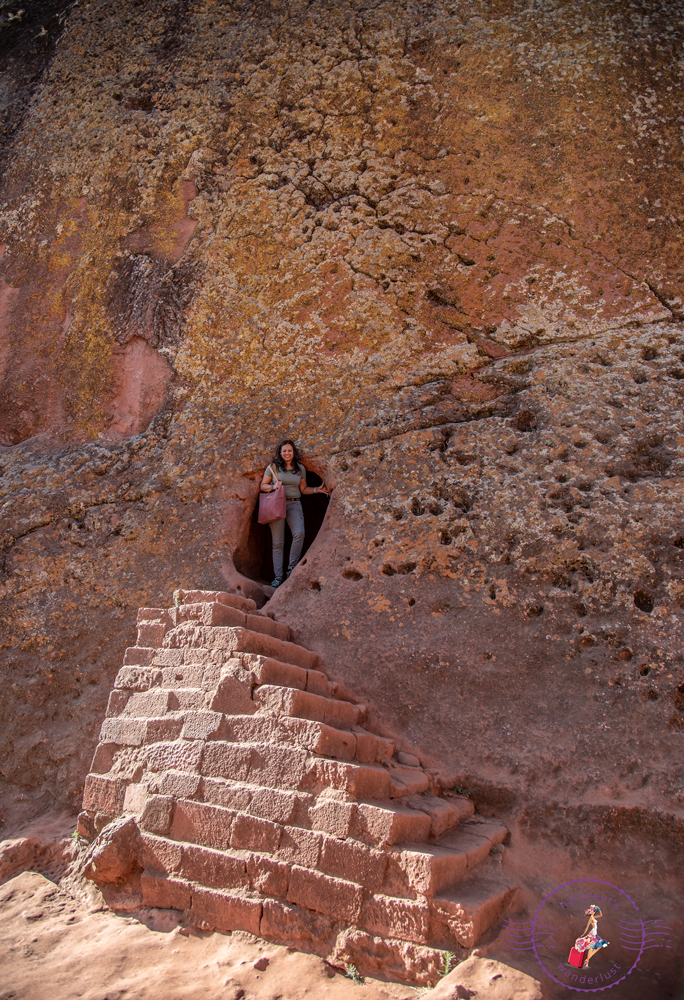"Emerging from one of the tunnels into the ""Petra"" of Ethiopia"