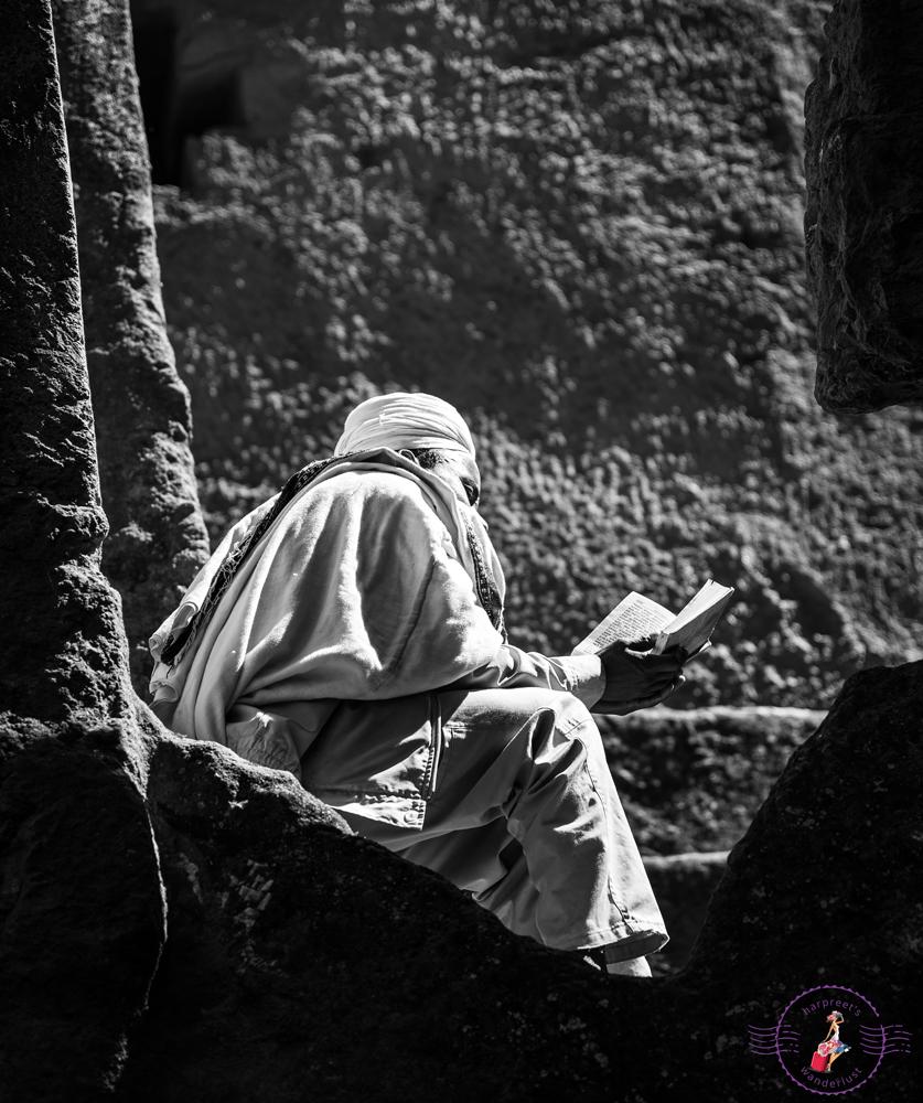 Pilgrim in a nook above Bet Uraiel