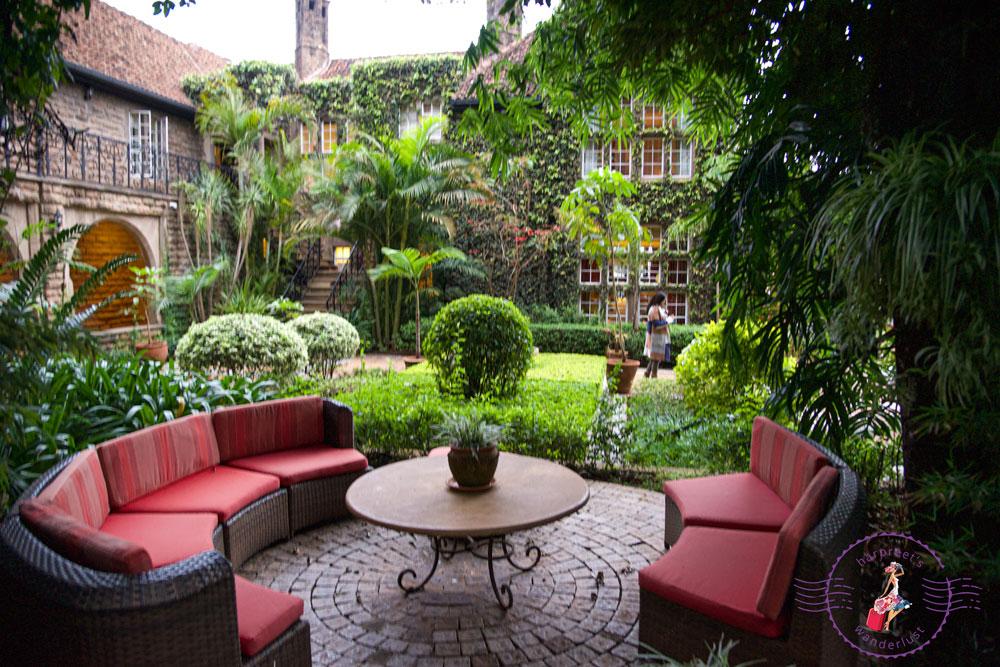 Giraffe Manor Back Terrace