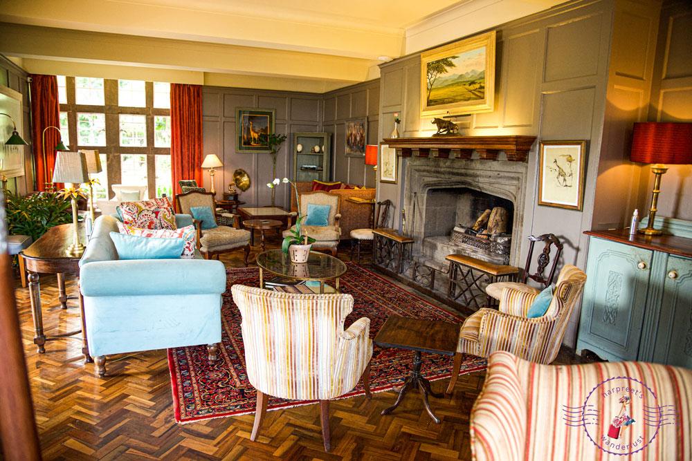 The Living Room at Giraffe Manor