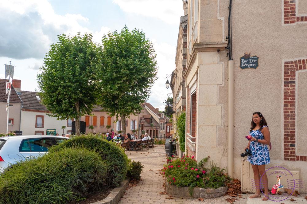 Harpreet standing in Rue Dom Perignon