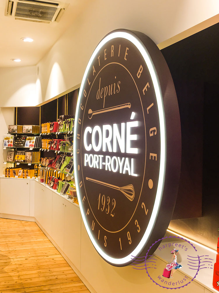 The signage of Corne Port Royal