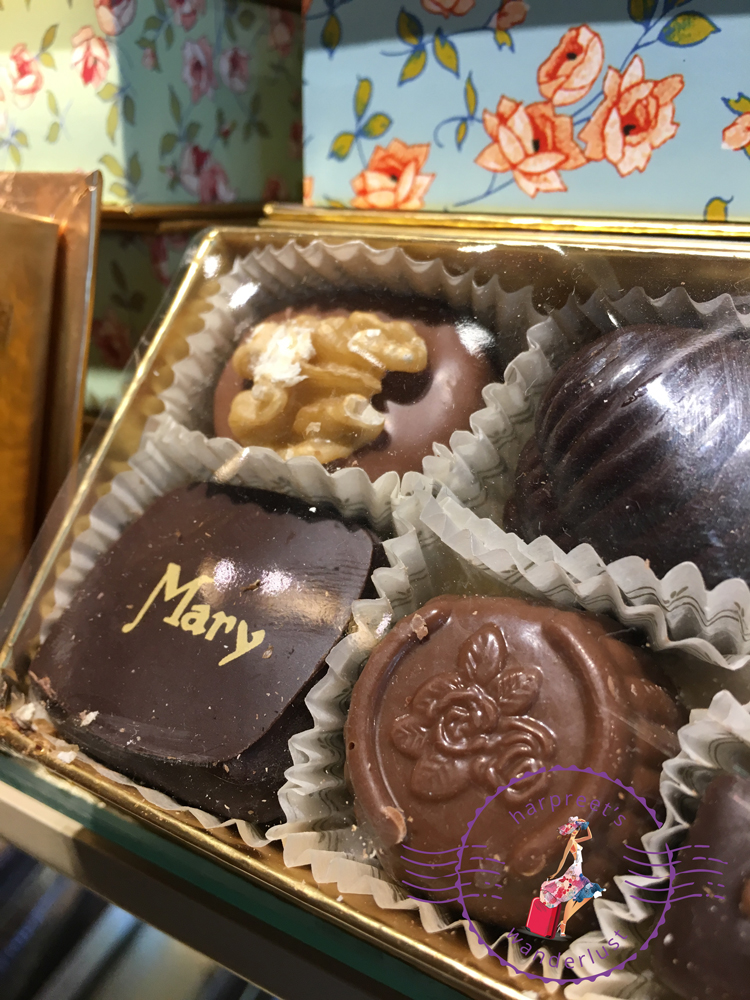 A box of chocolate from Mary Chocolatier