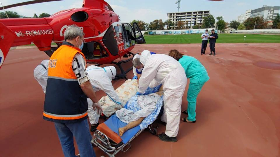 Intervenția aero-medicală SMURD Cimișlia-Chișinău (FOTO/VIDEO IGSU)