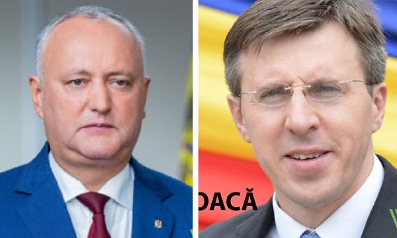 Alegeri prezidențiale 2020: Doi dintre candidații la prezidențiale, Igor Dodon și Dorin Chirtoacă: unul aflat sub controlul ANI, altul – sub urmărire penală