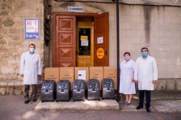 Șase concentratoare de oxigen, donate Spitalului Raional Cimișlia