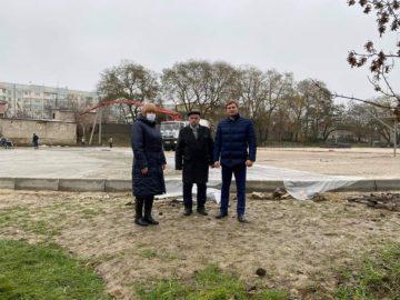 """Un nou teren de sport în preajma Liceului """"M. Eminescu"""" din Cimișlia"""