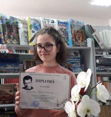 """Gabriela Delev din Ștefan Vodă, câștigătoarea Concursului """"La izvoarele înțelepciunii"""""""