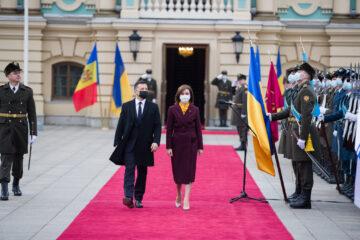 Maia Sandu, în vizită oficială la Kiev