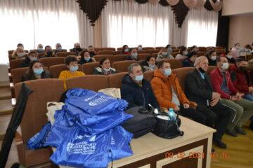 """În orașul Leova a fost organizată prima etapă a instruirii """"Inițierea și Dezvoltarea unei Afaceri Rezistente la Schimbări Climatice și Prietenoase Mediului pentru Femei și Bărbați Antreprenori"""""""