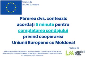Sondaj privind cooperarea Uniunii Europene cu Republica Moldova în anii 2014-2020