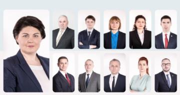 A fost făcută publică lista miniștrilor ai Guvernului Gavriliță