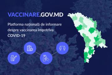 Astăzi se lansează prima platformă guvernamentală din Moldova pentru informarea cetățenilor despre procesul de vaccinare