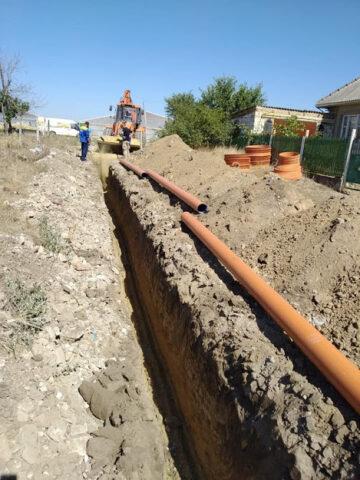 Dezvoltarea, în orașul Leova, a sistemului de canalizare grație susținerii financiare din partea Uniunii Europene