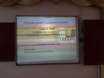 Se implementează disciplina opțională EDUCAȚIE PENTRU SOCIALIZARE JURIDICĂ în două instituții de învățământ din Cimișlia