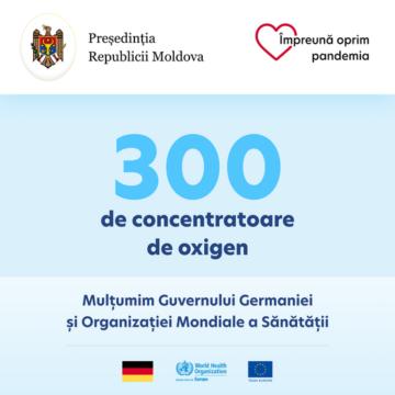 300 de concentratoare de oxigen donate spitalelor din Moldova